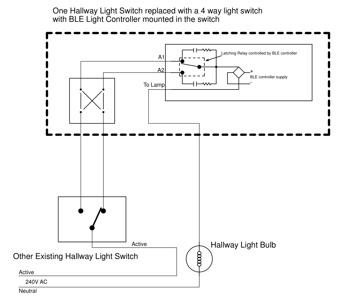 [SCHEMATICS_4NL]  Remote Controlled Light Switch -- Retrofit with Manual Override and No  extra writing. | Wiring Diagram Remote Control Light Switch |  | Forward Computing and Control Pty. Ltd.